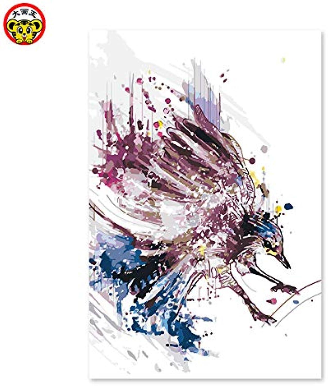 KYKDY malen nach zahlen kunst malen nach zahlen diy diy diy digitales öl zeichnung handgemaltes bild wanddekor pic abstrakt bunte adler, 6237,30x45cm kein rahmen B07NYFVZ19 | Vogue  9bdfa2