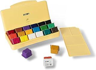 SKEIDO HIMI Gouache Paint Set 18 Colors (30ml/Pc) Paint Set Unique Jelly Cup Design Non Toxic Paints for Artist, Hobby Pai...