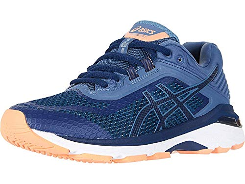 ASICS Women's GT-2000 6 (D) Running Shoes, 12W, Indigo Blue/Indigo Blue/Smoke