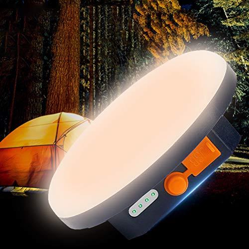 Gazaar Luz LED portátil de camping con modos SOS,lámpara LED recargable por USB,banco de energía de 6600mAh,luz de trabajo al aire libre resistente al agua con imán para cortes de energía,luz cálida