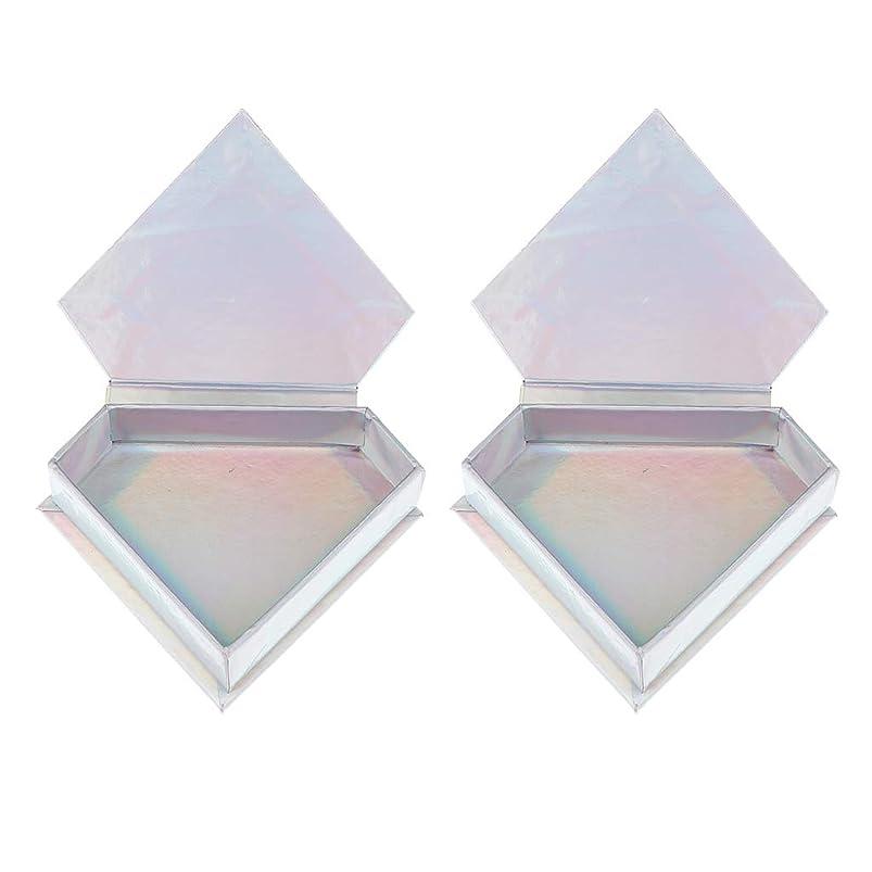 太平洋諸島別のポップ2パック つけまつげ用 まつげ収納ケース ダイヤモンド形状 実用性