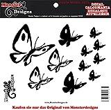 Schmetterling Autoaufkleber Aufkleber FARBE frei wählbar! Set-7