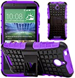 G-Shield Case for HTC Desire 510, Shock Absorption Cover with Kickstand, Purple