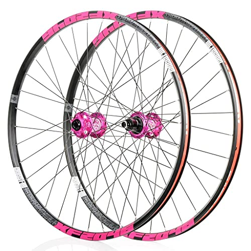 VTDOUQ Wheel for mountain bike 26'/ 27.5' / 29'bicycle wheel set MTB double wall rim QR disc brake 8-11S cassette hub 6 ratchets sealed bearing