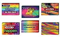 カラフル アップリフティング ポジティブポストカード (12パック) - ユニークでクールなギフト 子供 大人 男の子 女の子 女性用 - 素晴らしいグリーティングカードコレクションセット