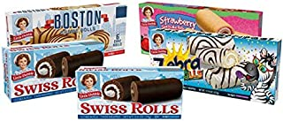 Little Debbie Cake Roll Variety Pack, 1 Box Of Zebra Cake Rolls, 2 Boxes of Swiss Rolls, 1 Box Of Strawberry Shortcake Rol...