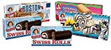 Little Debbie Cake Roll Variety Pack, 1 Box Of Zebra Cake Rolls, 2 Boxes of Swiss Rolls, 1 Box Of Strawberry Shortcake Rolls, And 1 Box Of Boston Creme Rolls, 5 Piece Assortment