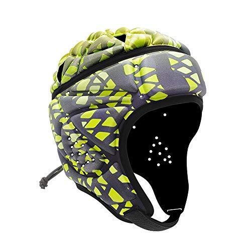 YANGF Air Rugby Headguards,Soft Helmet Scrum Cap,7v7 Flag Football Headgear for Adult Large (F10-3)