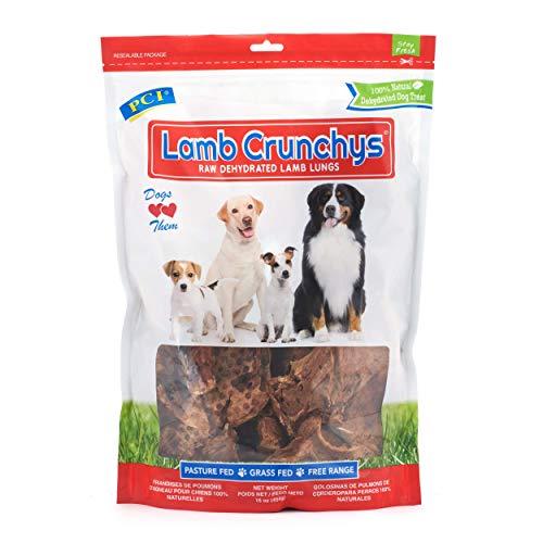 PCI Pet Center Inc. Lamb Crunchys Raw Dehydrated Lamb Lungs Dog Treats, 16 Ounce Pack