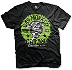 Gas Monkey Garage Officially Licensed - Logo Verde T-Shirt Camiseta T Shirt GMG - 100% Oficial