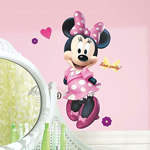 RoomMates Minnie Bow-Tique Peel and Stick Giant Wall Decal - RMK2008GM, Multicolor