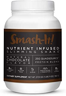 Primal Labs Smash-It! Nutrient Infused Weight Loss Shake, Gluten-Free, Non-GMO, High Protein Powder, Delicious Chocolate Taste, Free E-Book with Every Purchase.