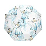 Compact Travel Regenschirm Ballerinas Auto Open Close Regenschirm Windproof Anti-UV