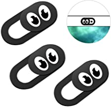 Eye Webcam Cover Slider 0.7Mm Thin - Web Camera Cover Fits Laptop, Desktop, Pc, Macboook Pro, iMac, Mac Mini, Computer, Smartphone, Protect Your Privacy Security, Strong Adhensive 3 Pack (3 Pack)