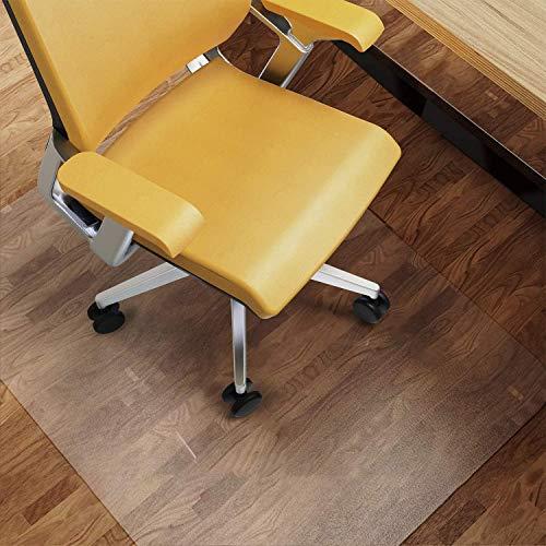 NATRKE Alfombrilla para Silla para Suelos Duros, Alfombrilla Grande para sillas de Escritorio 92 x 122 cm (3