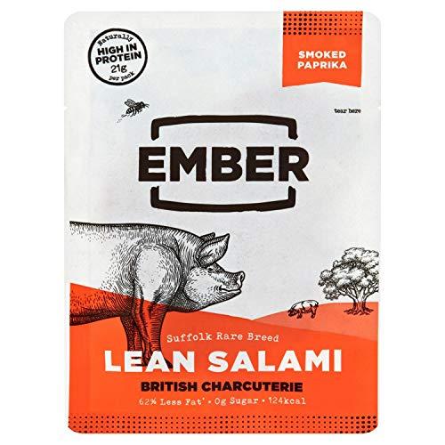 Ember Snacks Salami Smoked Paprika Flavour Lean Sliced Pork 1 x 50g Bag