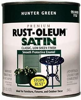 Rust-Oleum 7732502 Stops Rust, 32 oz. Quart, Hunter Green Satin Finish