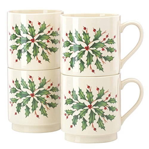 Lenox Holiday 4-Piece Stackable Mug Set