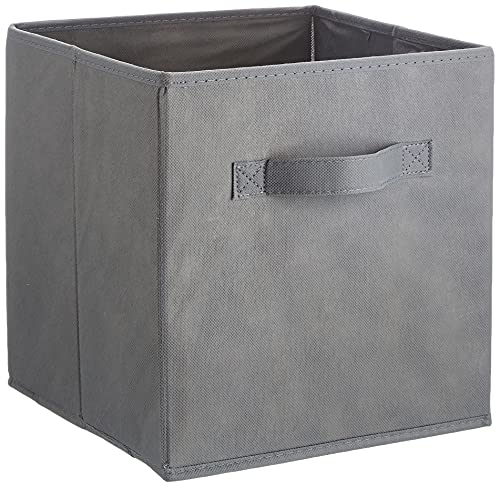 Amazon Basics - Aufbewahrungsboxen in Würfelform, faltbar, 6er-Pack, Grau