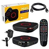 MAG 424w3 Infomir & HB-DIGITAL 4K IPTV Set Top Box Lecteur multimédia Internet TV IP Récepteur 4K UHD 60FPS 2160p@60 FPS HDMI 2.0 HEVC H.256 Arm Cortex-A53 WiFi WiFi (802.11n/AC) + câble HDMI