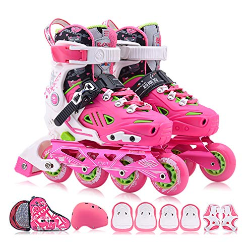 Check Out This HUATINGRHLW Mini Inline Skates with Light up Wheels, Size Adjustable Removable and Wa...