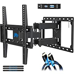 "【UNIVERSAL TV MOUNT】 The TV wall mount fits for most 32-55 inch TVs up to 99 lbs., with max VESA of 400mm x 400mm/16"" x 16"" and 16 inch wood studs spacing. Not perfect? Please check MD2380-24K, MD2380-24 or MD2298 for your best idea. 【UPGRADE VIEWING..."