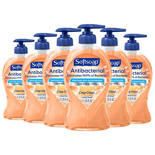 6-Pack 11.25oz Softsoap Antibacterial Liquid Hand Soap (Crisp Clean)  $11 at Amazon