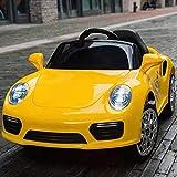 ATAA CARS Booster 6v Coche eléctrico niños con Mando - Amarillo - Coche eléctrico para niños Booster Estilo Porsche