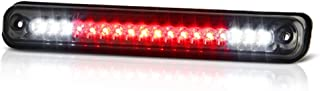 VIPMOTOZ Full LED Third Brake Cargo Light Assembly For 1988-1999 Chevy & GMC C/K 1500 2500 3500, Metallic Chrome Housing, Smoke Lens, Rear High Mount Stop Lamp