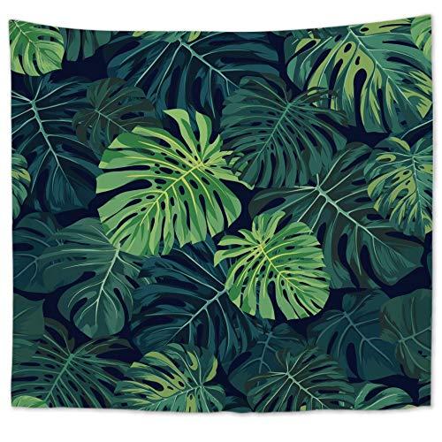 KHKJ Tapiz de Plantas Tropicales de Cilected, Tapiz para Colgar en la Pared, Tapiz con Estampado de Hojas de plátano y Cactus Bohemio, cojín de Toalla de Playa, cojín A12 200x150cm
