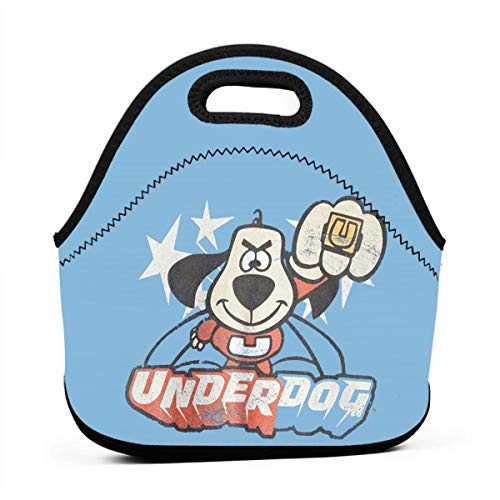 Underdog Flying Logo Retro Cartoon Lunch Bag Portable Lunch Box Insulated Lunch Tote Soft Bento Cooler Thermal Bags