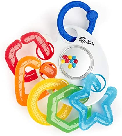 Baby Einstein Shake Rattle Soothe Take Along Textured Teether Toy Bpa Free Ages Newborn 12355 product image