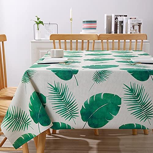 LIUJIU Abwaschbar Tischdecke Tischwäsche Pflegeleicht Garten Zimmer Tischdekoration,140x220cm