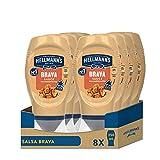 Hellmann's Salsa Brava Bocabajo - Pack de 8 x 250 ml (Total: 2000 ml)
