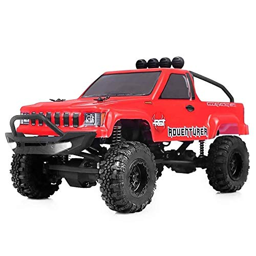 RGT RC Crawlers RTR 1/24 Scale 4WD 2.4Ghz Remote Control Truck,Radio Controlled Off-Road RC Crawler Electronic Monster Truck R/C RTR Hobby Grade Rock Crawler with LED Lights(Red