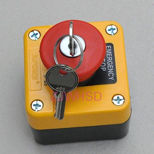 Wasserdichter Notaus-Drückknopf mit Schlüssel, 660V, 10A, normalerweise geschlossen, von HRUS