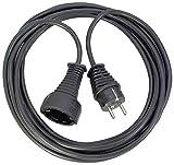 Brennenstuhl cable alargador de corriente de 10 m (alargador eléctrico para interiores) negro