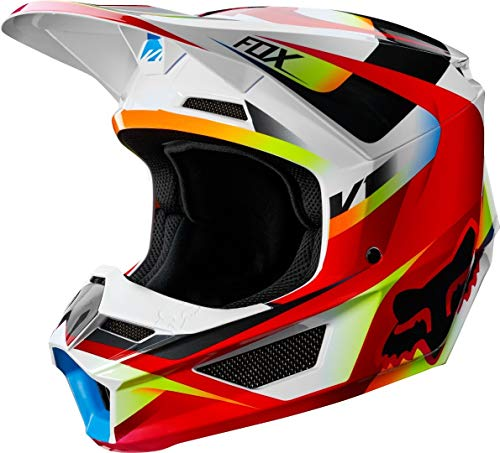 Fox Racing V1 Motif Youth Boys Off-Road Motorcycle Helmet - Red/White/Small