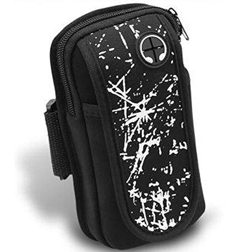 ECHERY Braccio del Sacchetto di Sport Regolabile Fascia da braccio Universale del Telefono Cellulare del Portafoglio Key Card Detentore di moneta Doppia Tasca Sweatproof Per Telefono 4.5'-6'
