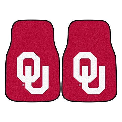 FANMATS - 5473 NCAA University of Oklahoma Sooners Nylon Face Carpet Car Mat