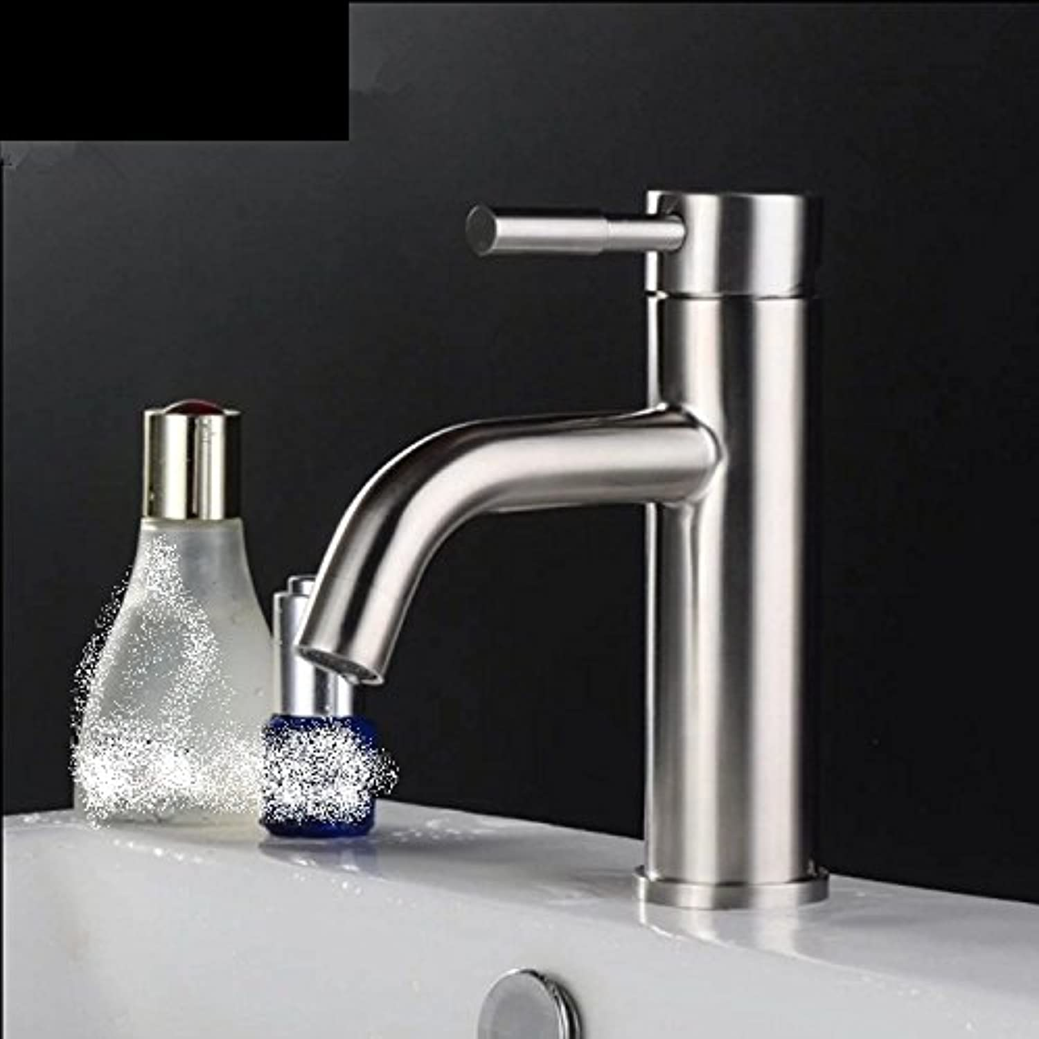 LHbox Basin Mixer Tap Bathroom Sink Faucet 304 Stainless Steel Basin Faucet