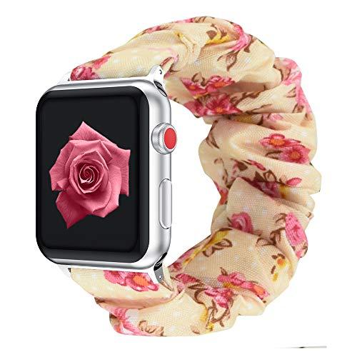 Vozehui. Correa elástica compatible con la correa Apple Watch, 38 mm, 40 mm, pulsera de tela con estampado colorido suave, compatible con iWatch Series 6, 5, 4, 3, 2 y 1, para mujeres y niñas