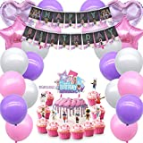 Girl Game Party Decorations for Roblox Party Supplies Cake Topper Cupcake Toppers Favor Birthday Balloons Banner