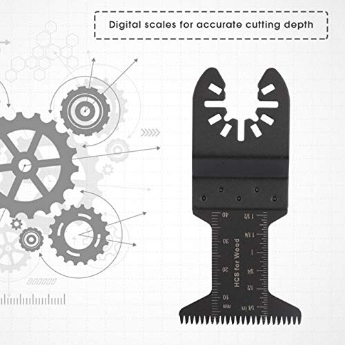 Best Review Of Xucus 50Pcs 44mm Oscillating Multi Tool Long Teeth Saw Blades for Hot New - (Color: B...