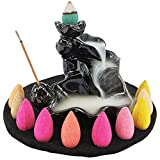 incense cones and holder - LZWIN Waterfall Backflow Incense Cone Burner Incense Sticks Holder