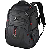 KROSER Travel Laptop Backpack 17.3 Inch XL Heavy Duty TSA Computer Backpack Water-Repellent College Daypack Business Backpack with RFID Pockets & USB Port for Men/Women-Black