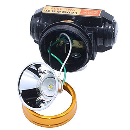 Beetest Lumière de LED pêche tête lampe lumière Mining chasse Camping Light Strong 20W réglable noir Rechargeable