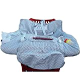 Anche - Funda protectora para carrito de bebé supermercado, para silla alta con bolsa de almacenamiento, con correas de seguridad para niños, higiénica, práctica lavable, plegable, portátil (gris)