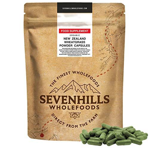 Sevenhills Wholefoods Capsule Polvere D'Erba Di Grano Bio (180 Capsules)