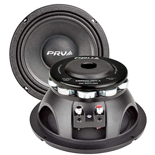 PRV Audio 6MR500-NDY-4 Neodymium 6.5' Mid Range 4 ohms Pro Audio Speaker 96dB 250 Watts RMS 2' VC